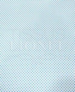POLYCOTTON PRINTED WHITE Turquoise HINTERGRUND PEA