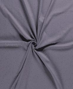 Double gaze pailleté gris moyen