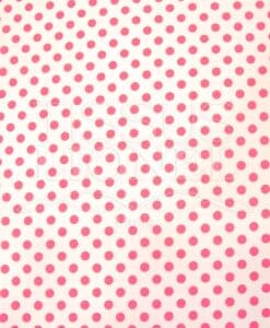 POLYCOTTON PRINTED PEAS WHITE BACKGROUND FUSHIA