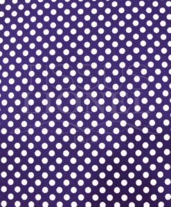 POLYCOTTON GEDRÜCKTER CROSS PURPLE WHITE PEAS