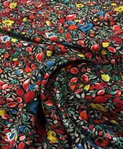 Japanese garden pattern microfiber fabric