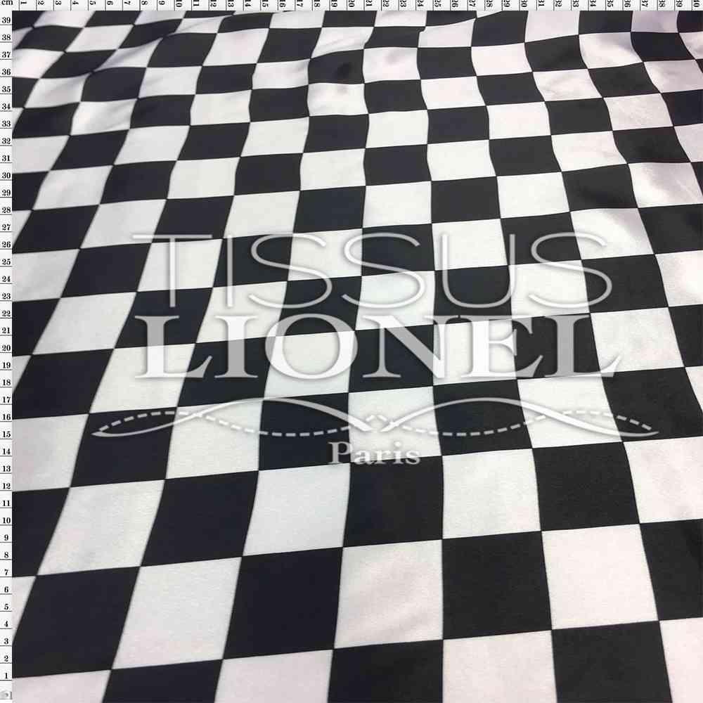 carnaval carreaux noir et blanc damier tissus lionel. Black Bedroom Furniture Sets. Home Design Ideas