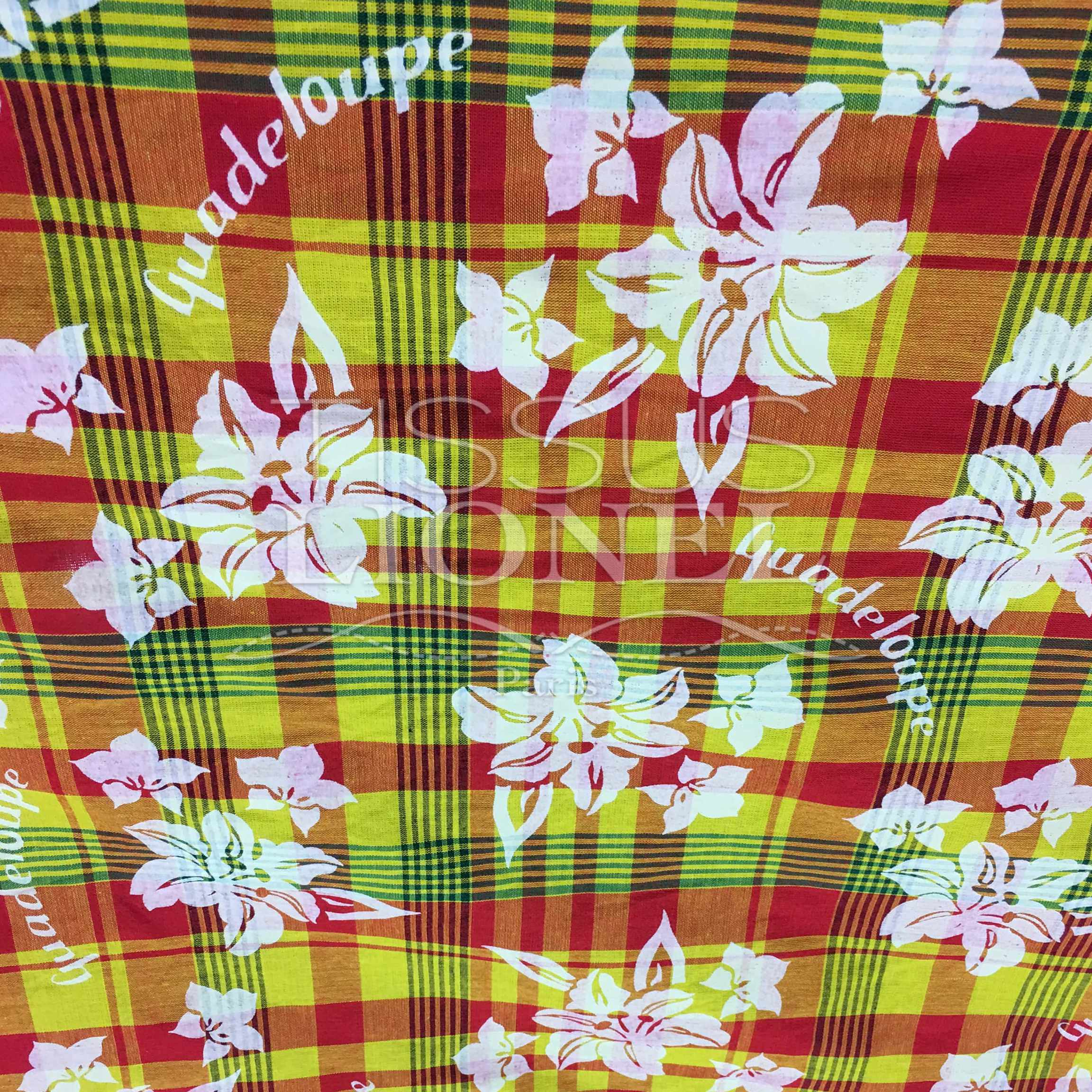 Floral print cotton Madras