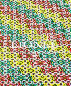 COTTON PRINTED AFRICAN WAX 074