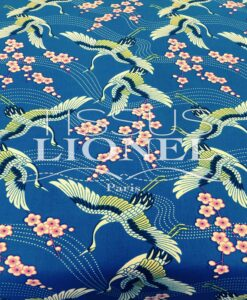 PRINTED COTTON BLUE SPRING