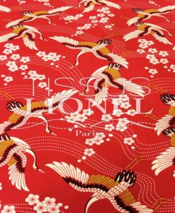 PRINTED COTTON RED SPRING