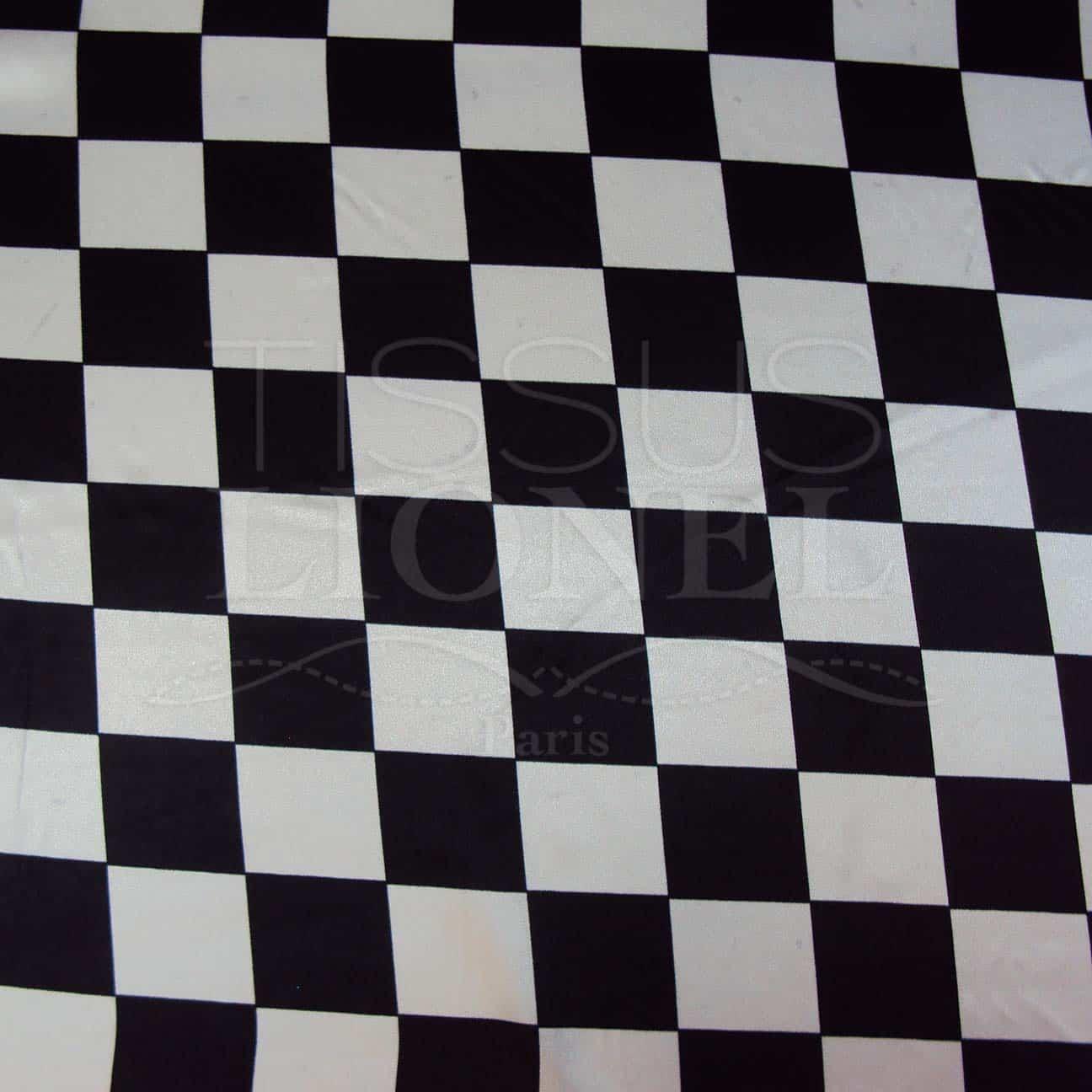 Carnaval carreaux noir et blanc tissus lionel - Carreaux noir et blanc ...