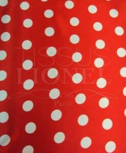 Carnaval points blanc sur fond rouge