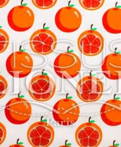 Ситцы Фрукты и сотрудничество Оранжевый белый фон