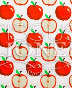 Cotton prints Fruits and Apple co white background