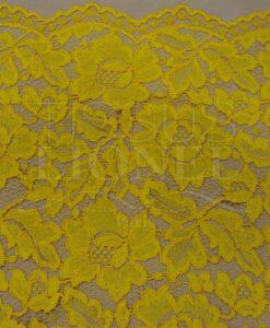 Кружева вышитые желтый
