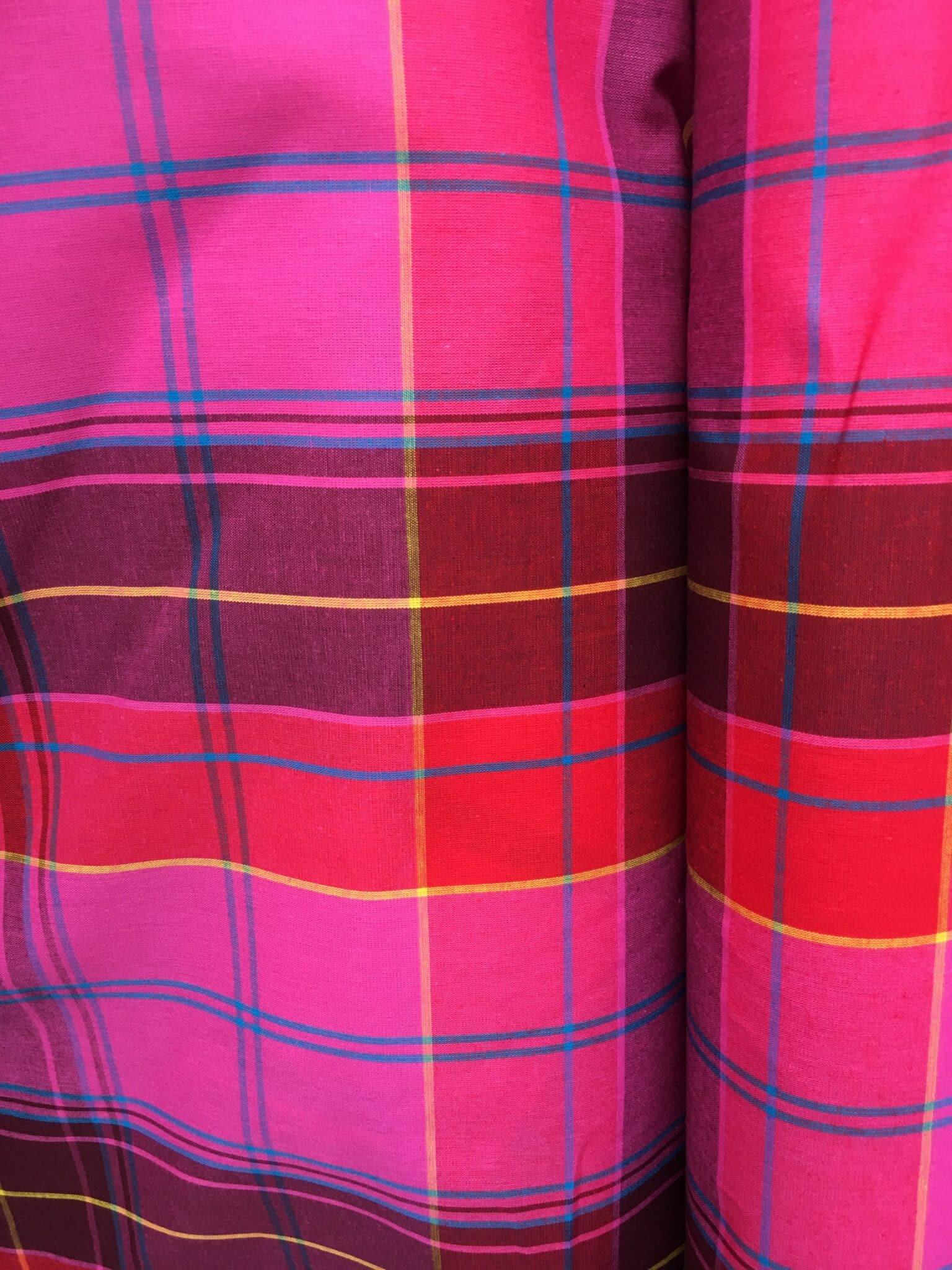 Varios Colores Arlequín diamantes rosas de tela de satén por Metro