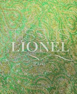 Jacquard lurex Vert et or