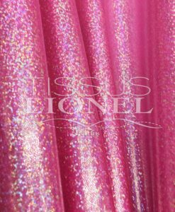 LYCRA GLITTER MULTI SERIE 1 BACKGROUND ROSE FLUO glitter o hologramme