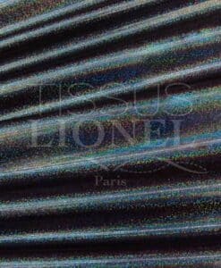 Lycra sequined multi-series 1 background npir black hologram glitter