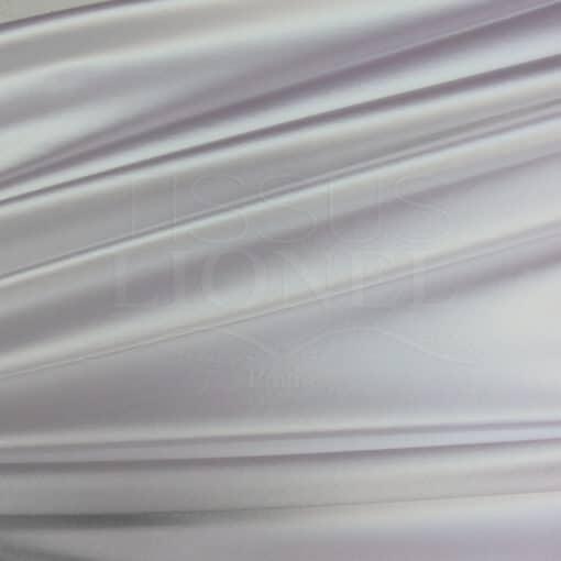 Lycra satin épais blanc