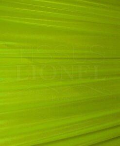 Résille laqué pailleté fond jaune fluo pailleté argent