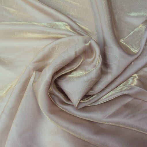 Satin changeante beige or