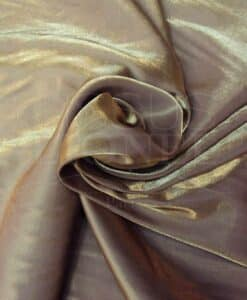 Satin changeante marron or