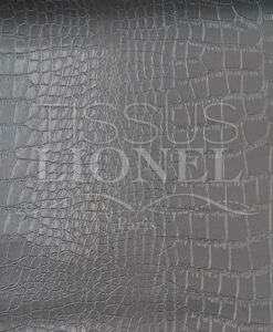 Faux crocodile leather 1 Grey