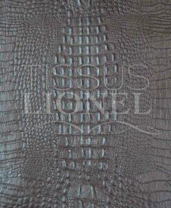 Faux crocodile leather 2 Brown