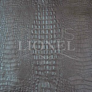 Simili Cuir crocodile 2 marron