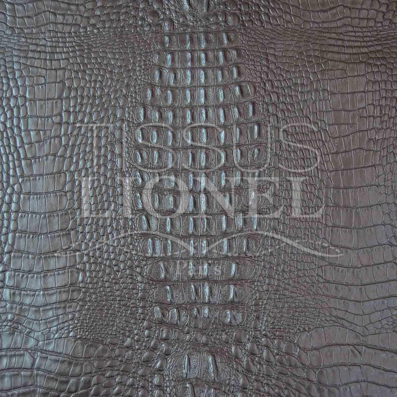 simili cuir crocodile 2 marron tissus lionel. Black Bedroom Furniture Sets. Home Design Ideas