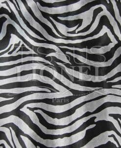Faux leather black and silver zebra