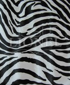 Imitation Leather zebra black and white