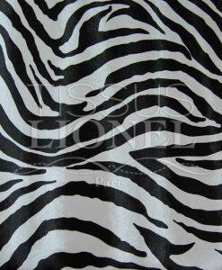 Imitazione zebra in pelle bianco e nero