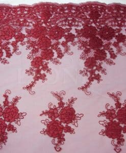 TULLE EMBROIDERED RED