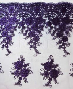 EMBROIDERED TULLE VIOLET