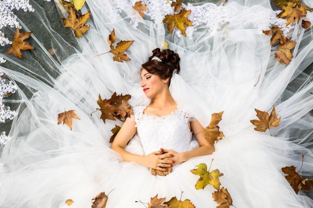 tulle abito da sposa