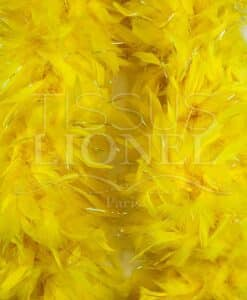 yellow boa with lurex