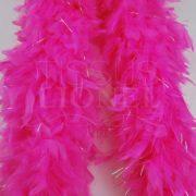 boa avec lurex rose fluo clair