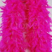 boa avec lurex rose fluo vif