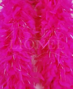 boa with bright fluorescent pink lurex