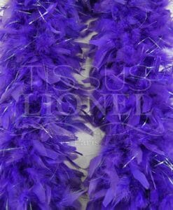 boa with purple lurex