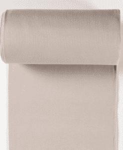 Bord côte jersey tubulaire beige clair