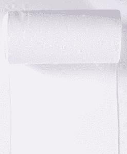 Bord côte jersey tubulaire blanc