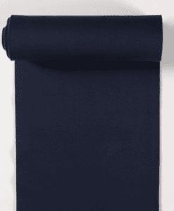 Bord côte jersey tubulaire bleu acier