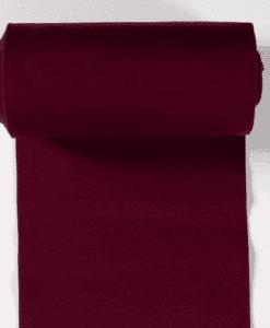 Bord côte jersey tubulaire bordeaux