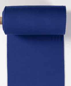 Bord côte jersey tubulaire cobalt