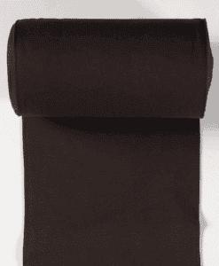 Bord côte jersey tubulaire marron foncé