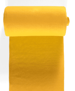 Bord côte jersey tubulaire jaune