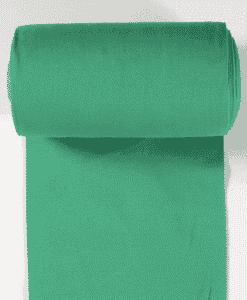 Bord côte jersey tubulaire vert