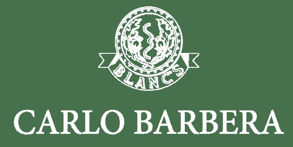 Carlo logo Barbera blanc