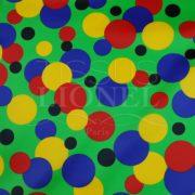 carnaval boules de couleur sur fond vert