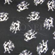 carnaval dragons blanc sur fond noir