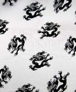 Carnevale draghi neri su sfondo bianco